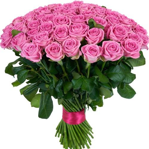 Купить на заказ Букет из 101 розовой розы с доставкой в Есике
