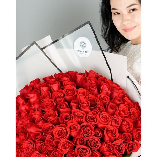 Купить на заказ Букет из 101 красной розы с доставкой в Есике