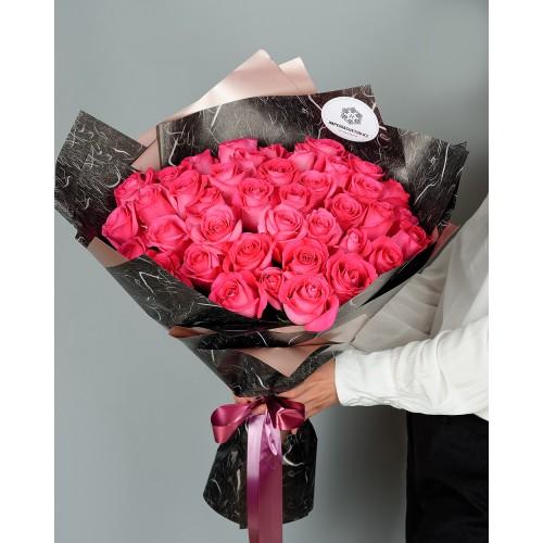 Купить на заказ Букет из 51 розовых роз с доставкой в Есике