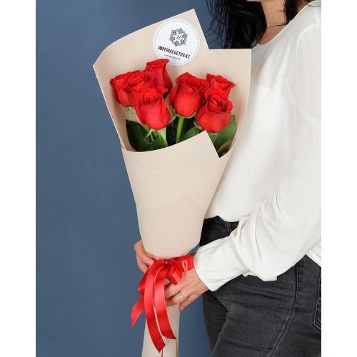 Купить на заказ Букет из 7 роз с доставкой в Есике