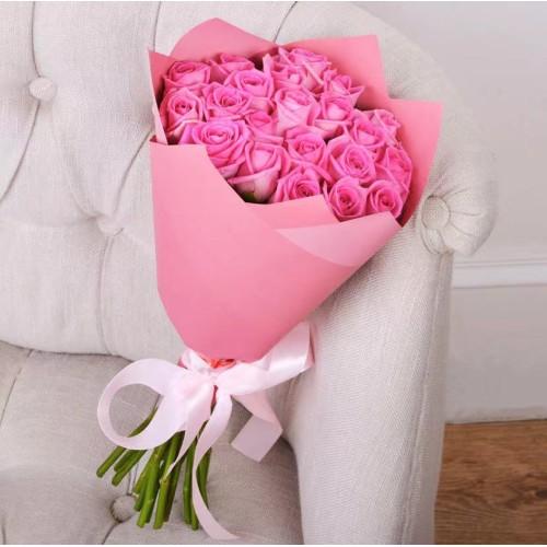 Купить на заказ Букет из 21 розовой розы с доставкой в Есике