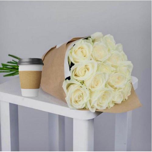 Купить на заказ Кофе с цветами с доставкой в Есике