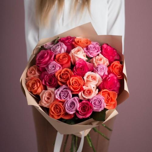 Купить на заказ Букет из 25 роз (микс) с доставкой в Есике