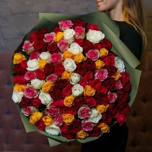 Купить на заказ Букет из 101 розы (микс) с доставкой в Есике